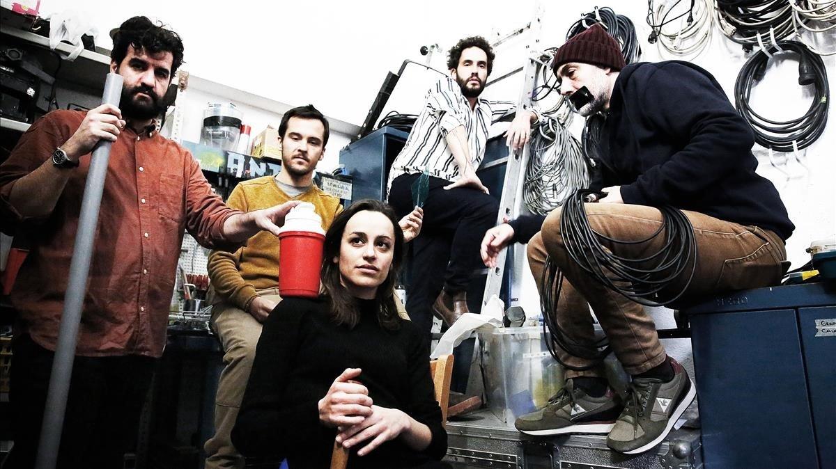 El grupo barcelonés Seward, fotografiados en el Teatre Antic