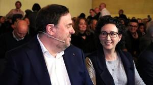 Oriol Junqueras y Marta Rovira, en una imagen del 2017