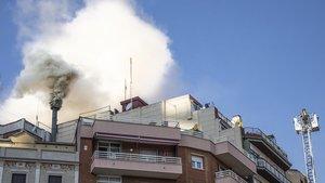 Un incendio en un restaurante de Barcelona el pasado 30 de octubre.