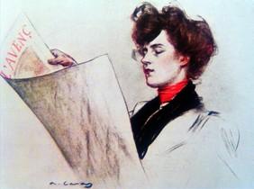 Pintura auténtica de Ramon Casas que guardaba un gran parecido con una creada por el pintor de Lavapiés.