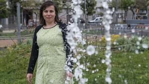 Nikoletta Theodori, diseñadora de ambientes lumínicos e impulsora de sObres mestres, en Barcelona.