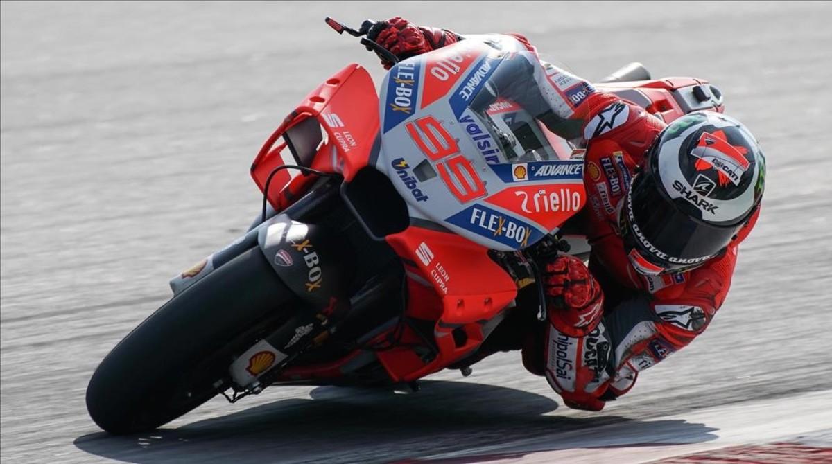 Jorge Lorenzo (Ducati) ha dado hoy un golpe de autoridad en Sepang (Malasia).