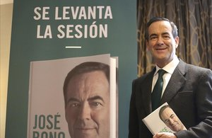 José Bono, durante la presentación de su libro.
