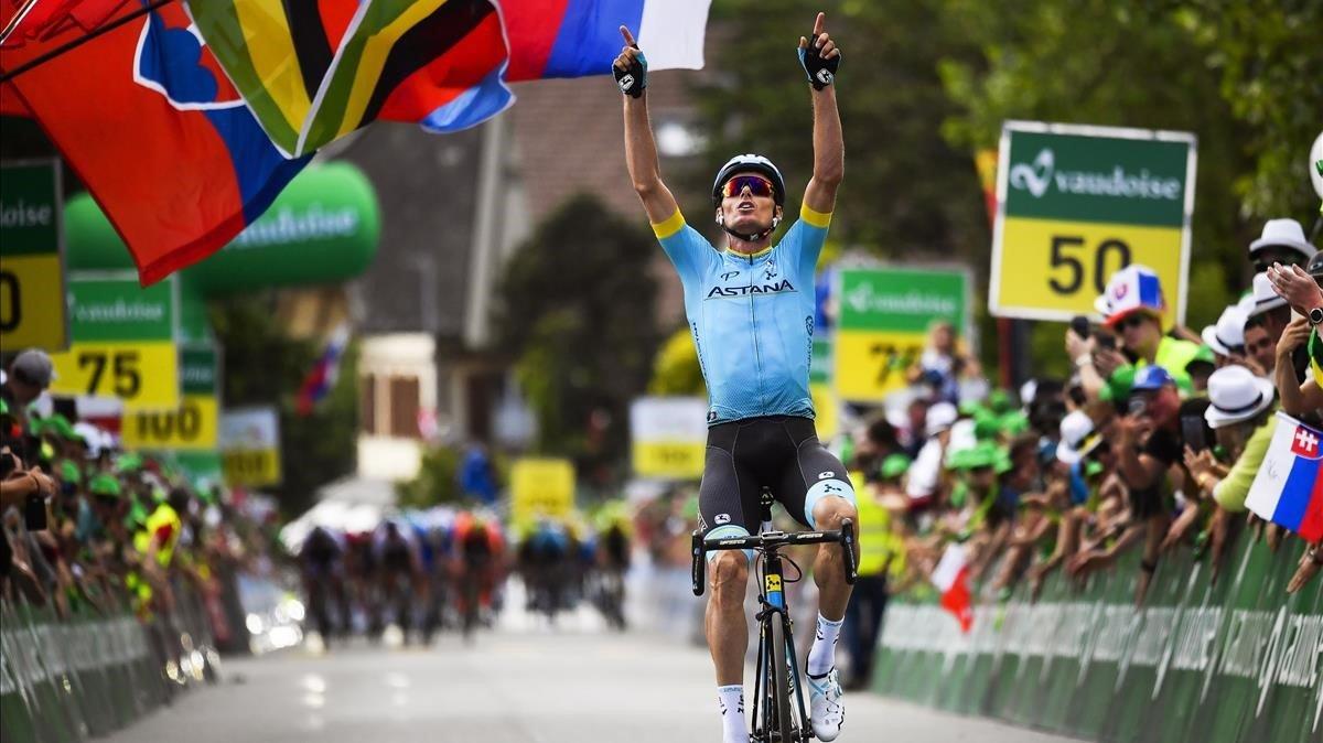 Luis León Sánchez gana la segunda etapa de la Vuelta a Suiza.