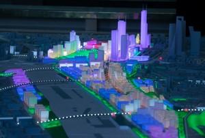 Maqueta del proyecto Madrid Nuevo Norte.