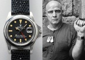 El reloj, un Rolex GMT Master, destacó en la venta no sólo por haber acompañado a Brando en el rodaje de la icónica cinta.