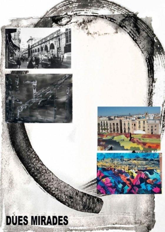 Fotografia i pintura s'uneixen per plasmar el barri de Santa Caterina de Barcelona a Parets del Vallès