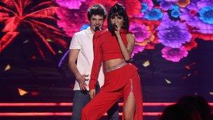 Natalia Lacunza y Miki cantando 'Nadie se salva' en 'OT Eurovisión'