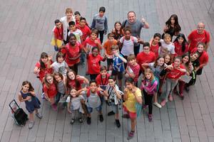 Niños y niñas del Consejo de Infancia y Adolescencia de Sant Boi