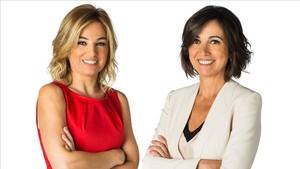 Núria Solé y Lídia Heredia, presentadoras de Els matins de TV-3.