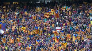 'Estelades en un partido del Barça'