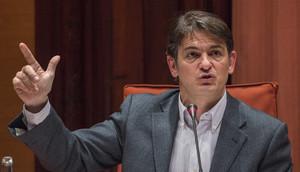 Oriol Pujol Ferrusola, en la comision anti fraude del Parlament de Catalunya, el 2 de marzo del 2015.