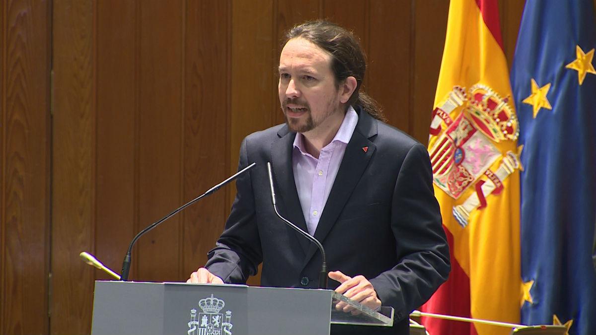 Pablo Iglesias, nuevo vicepresidente segundo y ministro de Derechos Sociales y Agenda 2030.