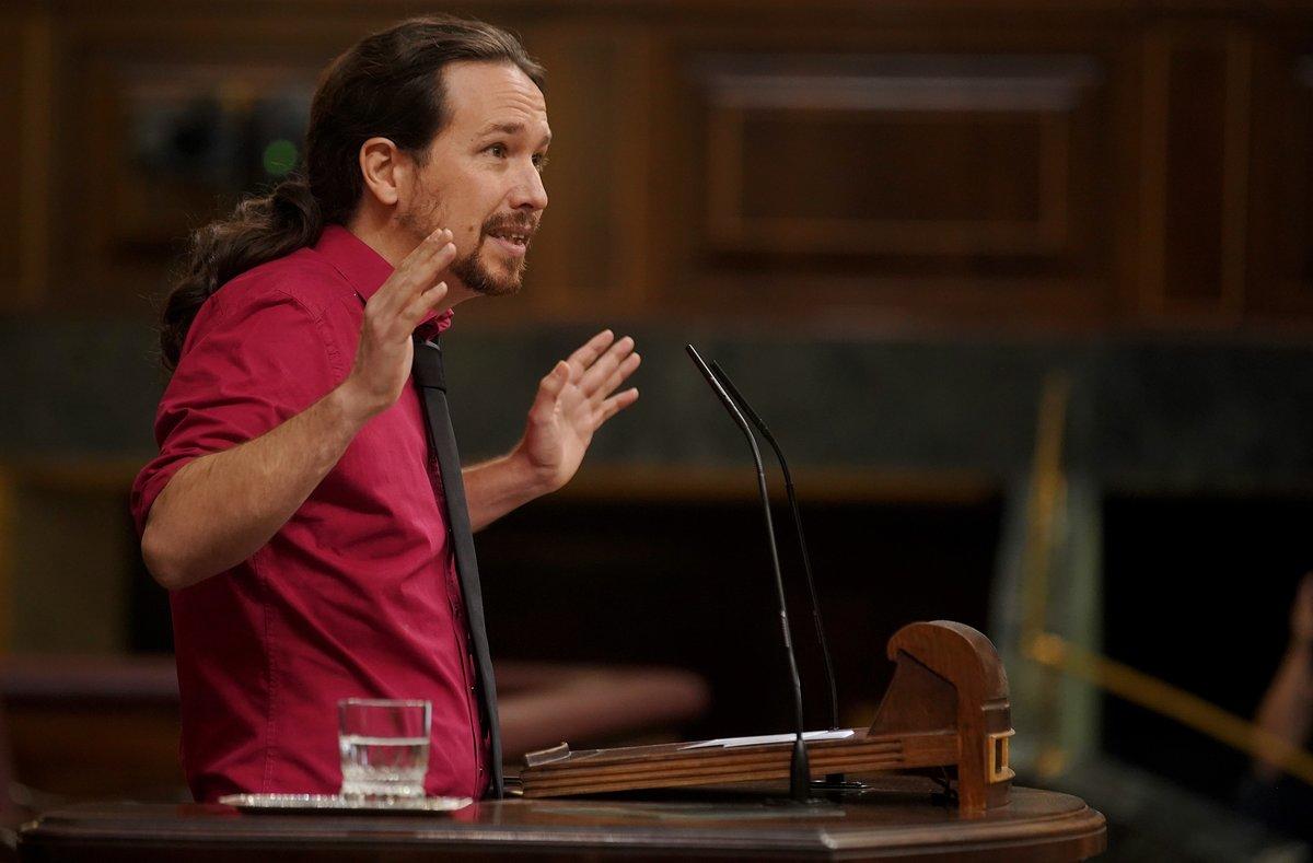 Pablo Iglesias, en unasesiónde control al Gobierno en el Congreso de los Diputados, el pasado octubre.