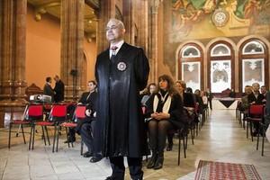 Pablo Llarena, el 2 de febrero del 2011, al asumir la presidencia de la Audiencia de Barcelona, su destino antes del Tribunal Supremo.