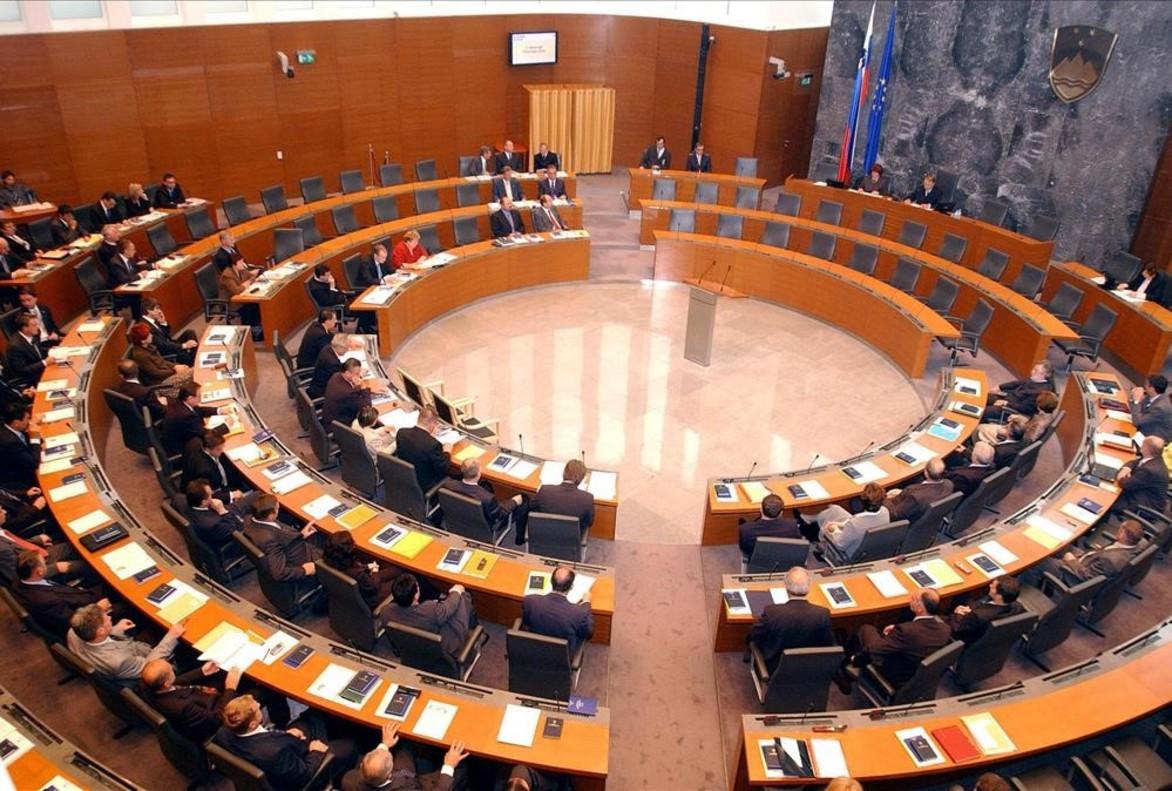 El Parlamento de Eslovenia.