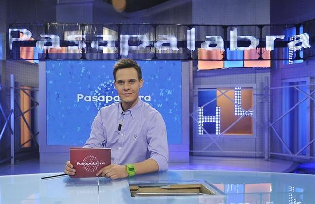 Christian Gálvez, en el plató de Pasapalabra.