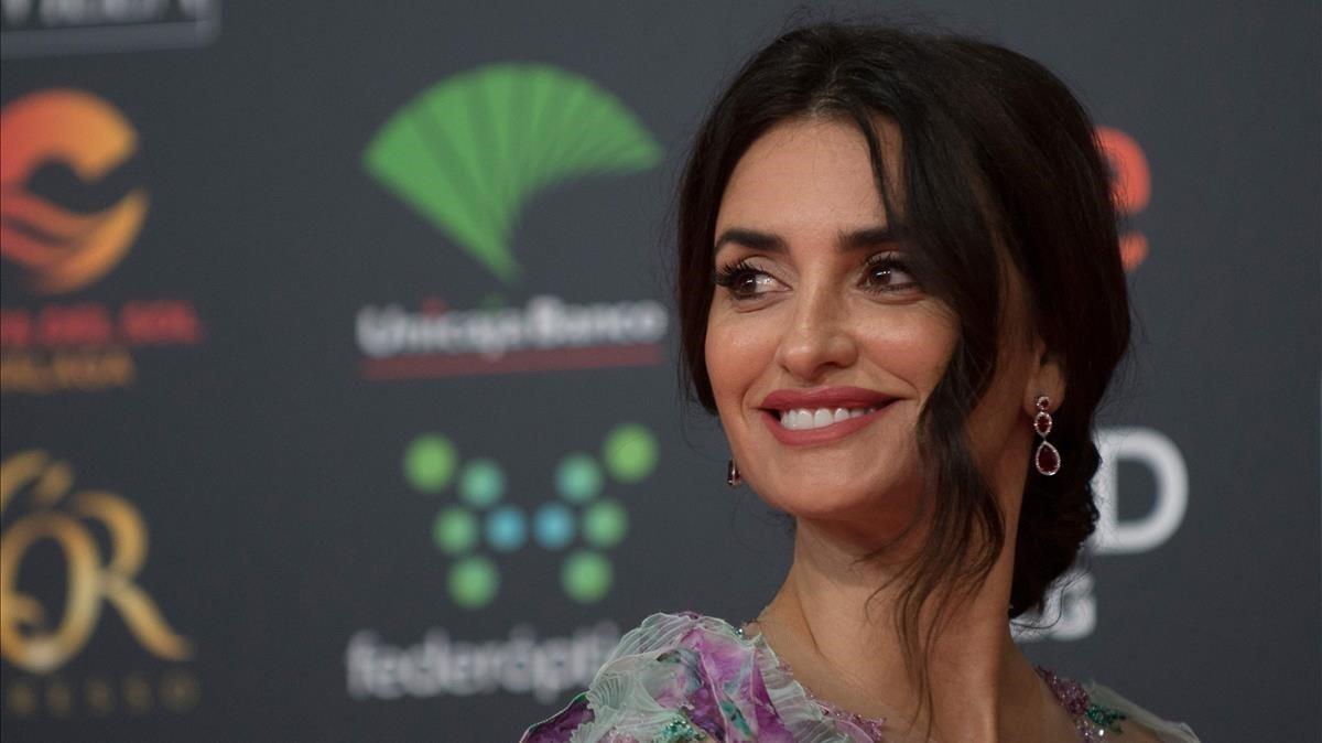 Penélope Cruz posa en los Premios Goya, el pasado mes de enero.