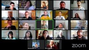 Pleno municipal virtual del Ayuntamiento de Gavà, celebrado el jueves por videoconferencia