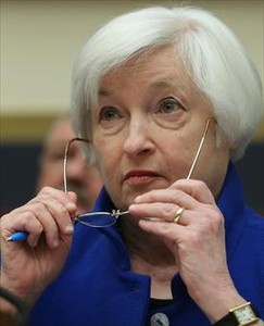 La presidenta de la Reserva Federal, Janet Yellen, en Washington.