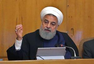 El presidente iraní, Hasan Rohaní, en una comparecencia en televisión.