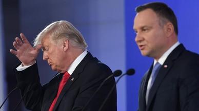 Trump se compromete con la OTAN y se erige en defensor de los valores de Occidente