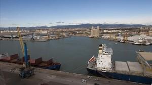 El puerto de Tarragona.