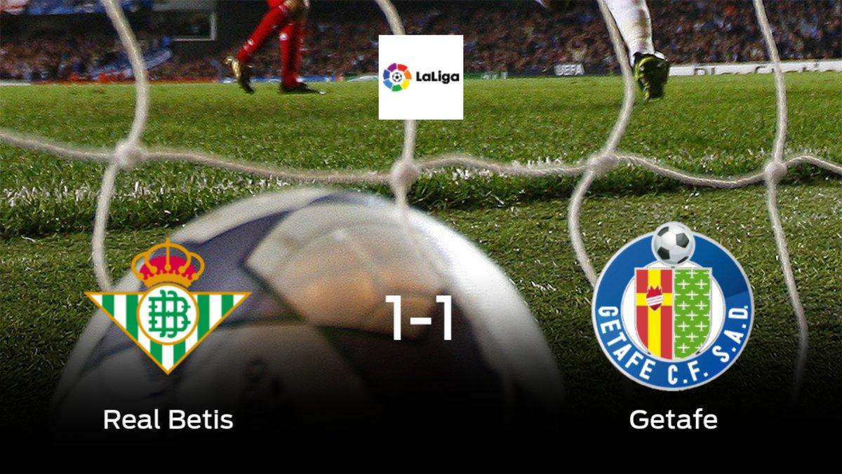 El Real Betis y el Getafe suman un punto tras empatar a uno