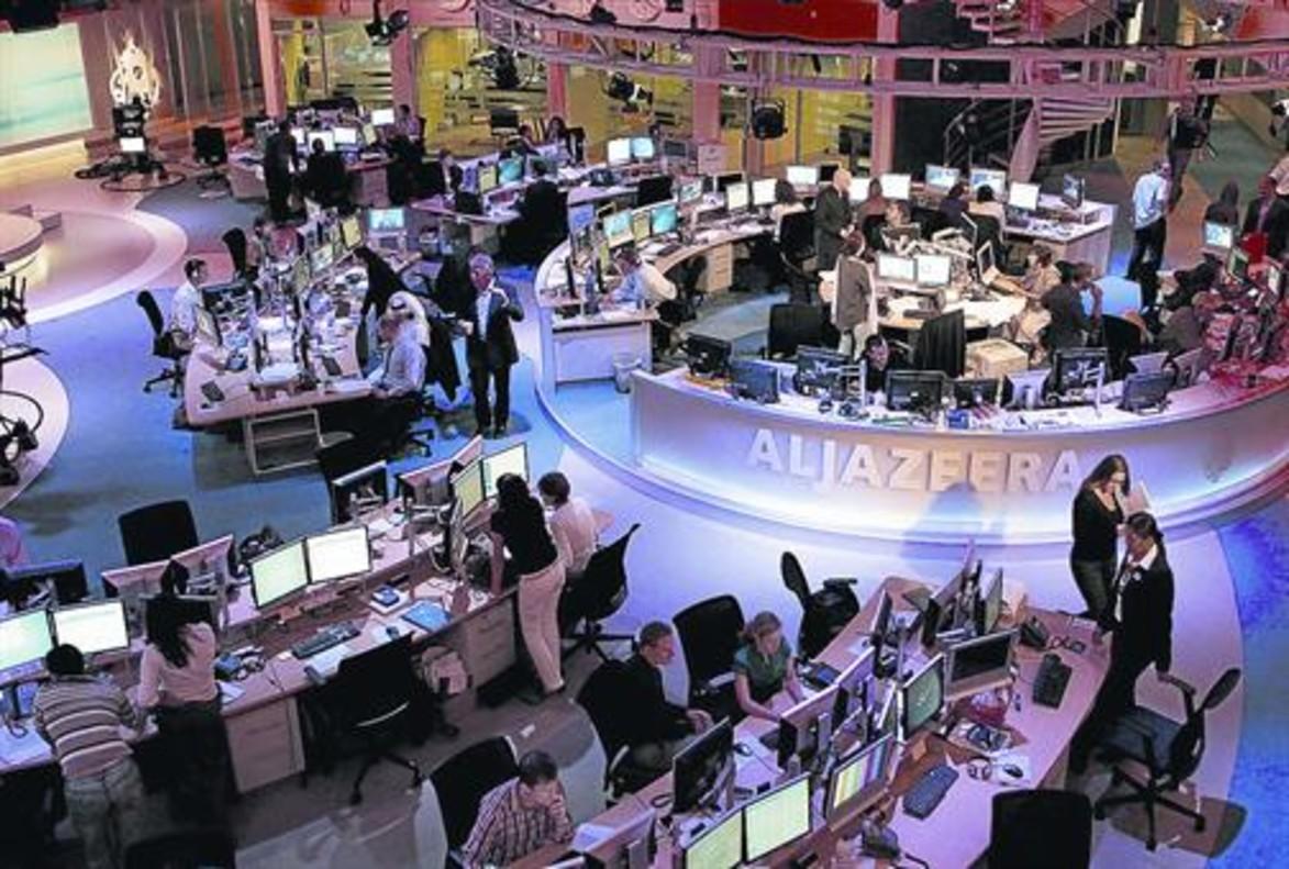 Redacción del canal en inglés de Al Jazira, en Doha (Catar).