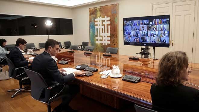 Reunión de Pedro Sánchez con los presidentes autonómicos.