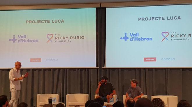 Ricky Rubio presenta el 'Proyecto Luca', que apoya a niños con cáncer.