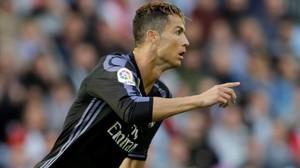 Ronaldo celebra su primer gol al Celta el miércoles pasado.