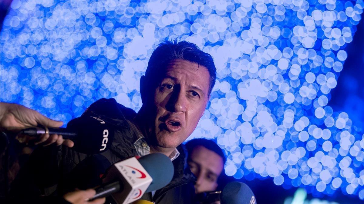 Albiol, en un acto en un centro comercial de Barcelona.