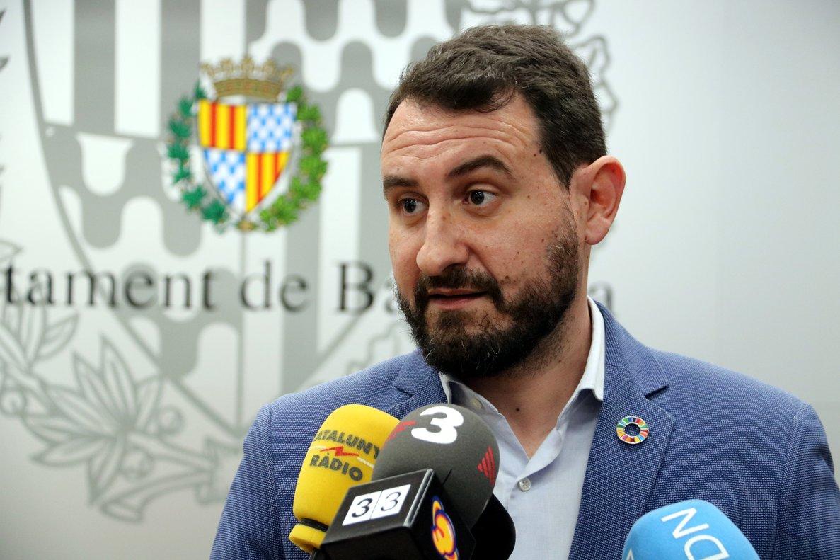 Rubén Guijarro (PSC) en el Ayuntamiento de Badalona.