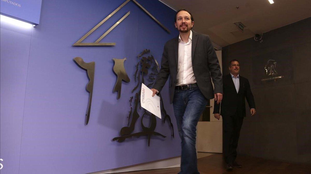 El secretario general de Podemos, Pablo Iglesias, el pasado 6 de junio.
