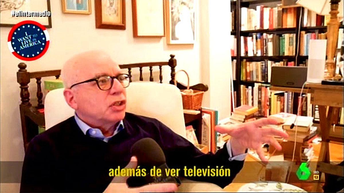 Michael Wolff, entrevistado por Fesser (El intermedio, La Sexta).
