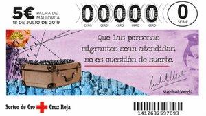 Sorteo de Oro de Cruz Roja 2019.