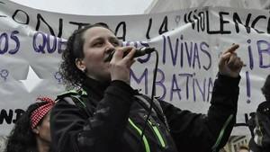 Susana Guerrero, durante una movilización.