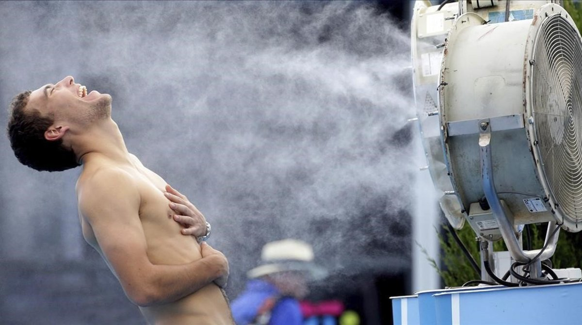 El tenista Jerzy Janowicz , en el Open de Australia en el 2014.