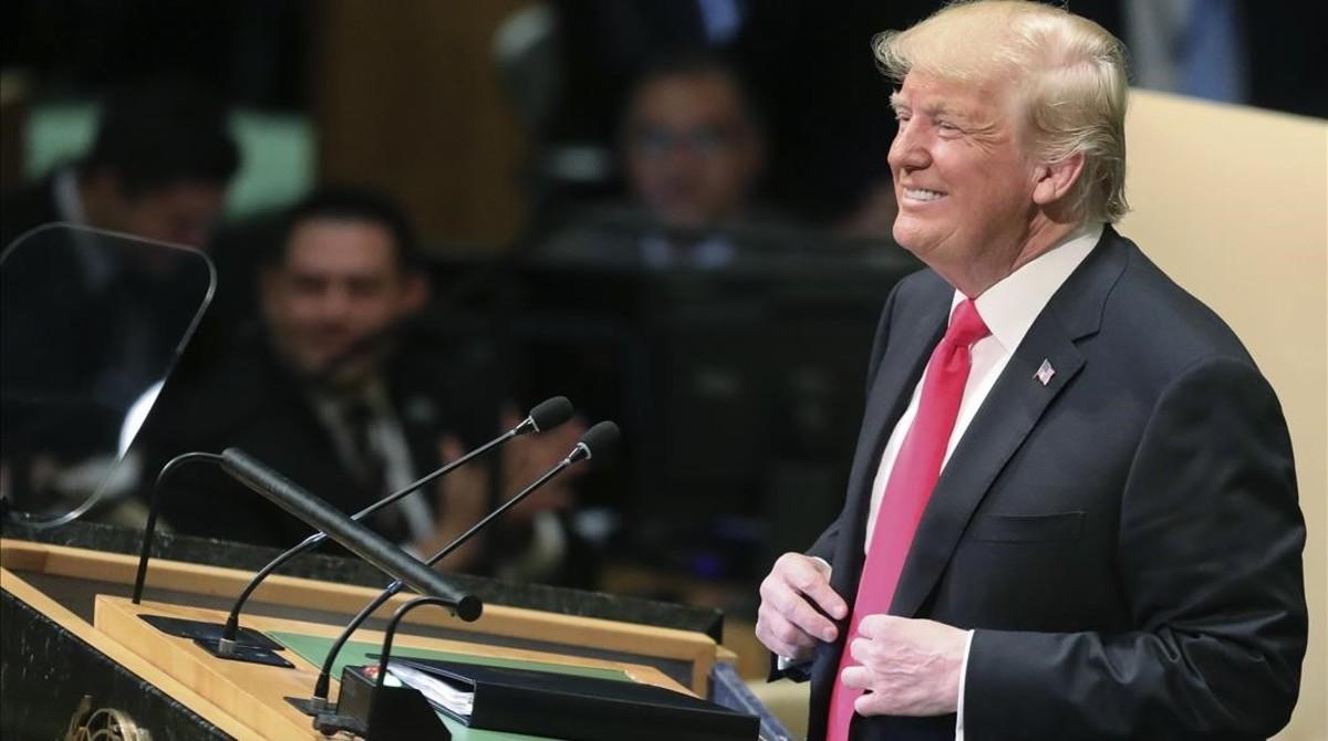 Donald Trump, este martes en la ONU