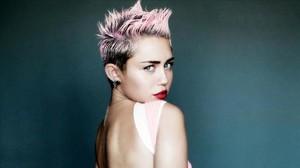 La cantante Miley Cyrus.