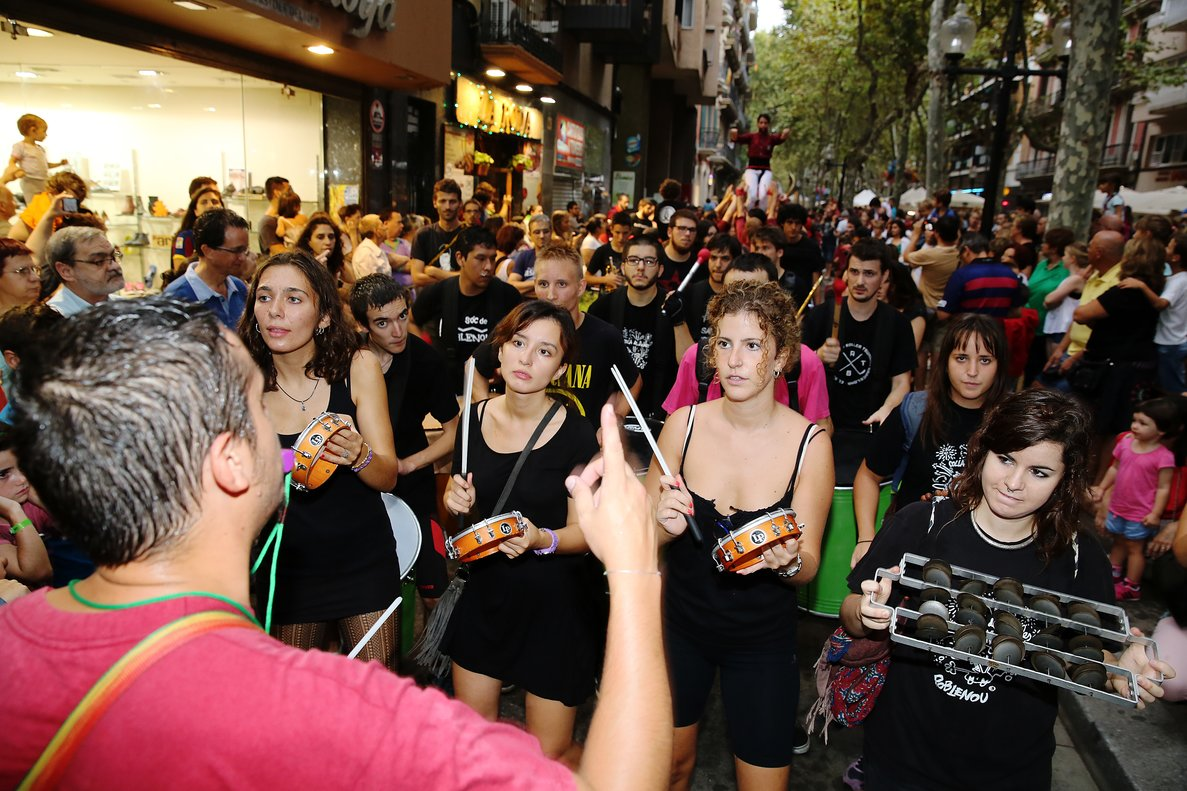 Una imagen de la Festa Major del Poblenou, el año pasado