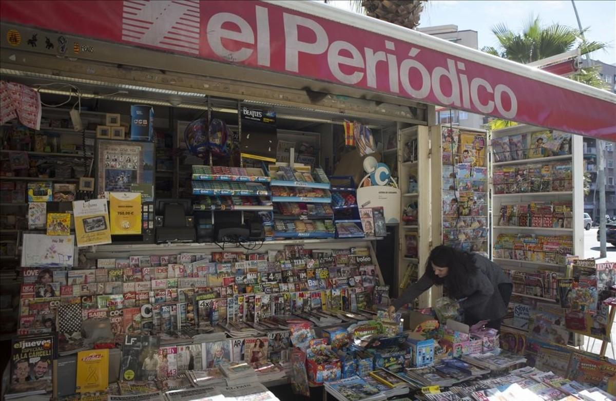 Quioscode prensa de la calle Marina 141, en Barcelona.