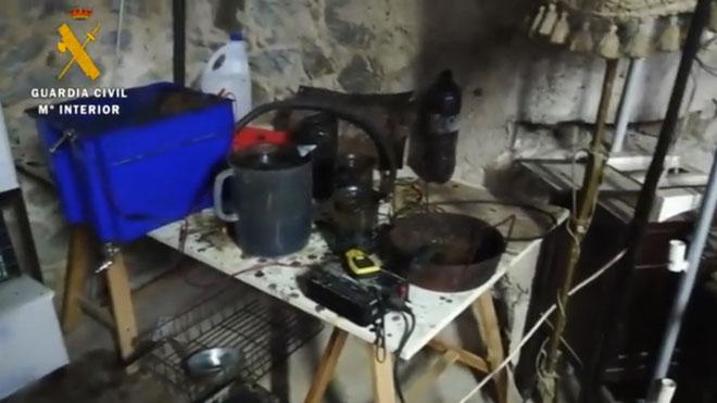 Vídeo de la Guardia Civil que muestra el material hallado en la operación contra los CDR