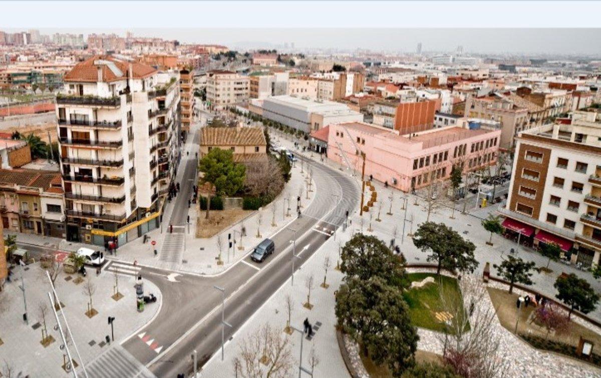 Vista aérea de Cornellà de Llobregat.
