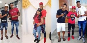 Poses de Yerry Mina en Instagram con los miembros de su familia, a la que ha bautizado como 'la banda'.