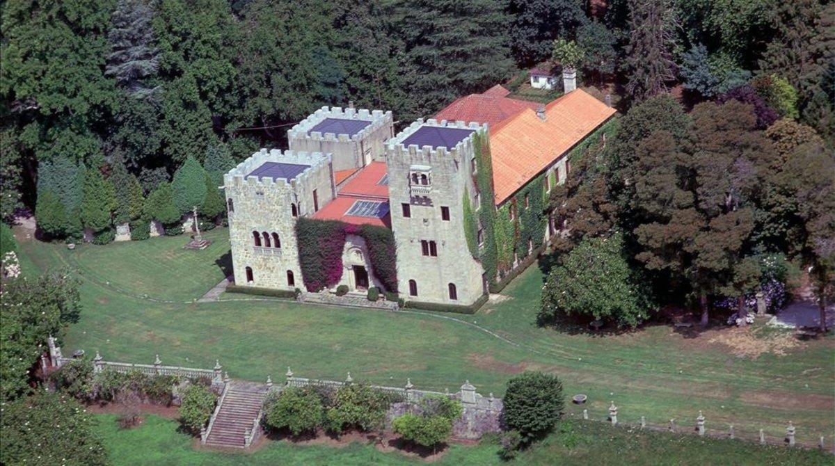 Vista del Pazo Meirás, en el municipio coruñés de Sada, propiedad de los herederos de Franco.
