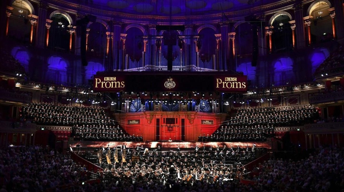 Una imagen de la interpretación de 'Gurrelieder', con el Orfeó Català, en el Royal Albert Hall de Londres.