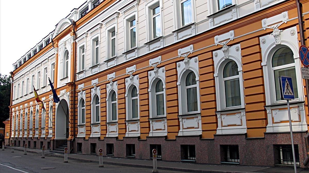 Embajada española en Moscú.