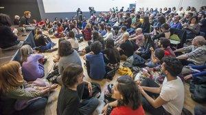 Ambiente en el primer Festival de Cultura Txarnega, este sábado.